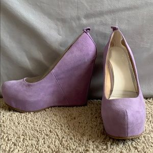 Lavender pump, heels, wedges! Purple! Calcagni!